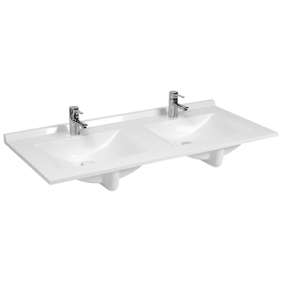 Plan vasque double en rsine de salle de bain