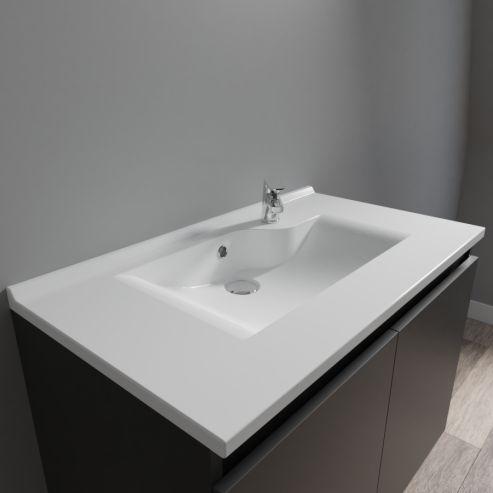 Plan Vasque Simple En Resine De Salle De Bain Andernos 70