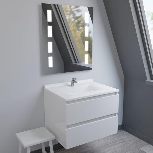 meuble salle de bain simple vasque arlequin 70x55 5 coloris au choix