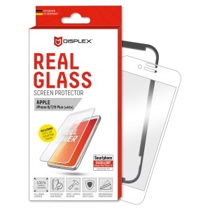 IPHONE 6 PLUS 7 PLUS 8 PLUS white REAL GLASS 3D FULL GLUE WITH APPLICATOR