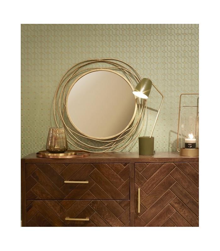 sling miroir mural rond laiton d 67 cm pomax unetouchedesud fr