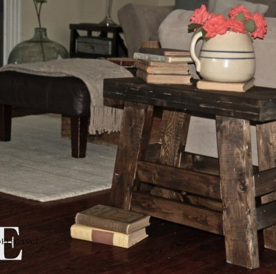 Pottery Barn Inspired Stool Tutorial