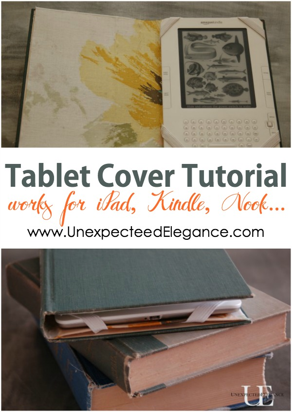 Make An Old Book Cover : Kindle nook or ipad cover tutorial