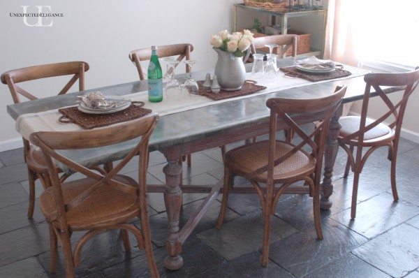 Zinc Table Tutorial Unexpected Elegance - Zinc top dining table