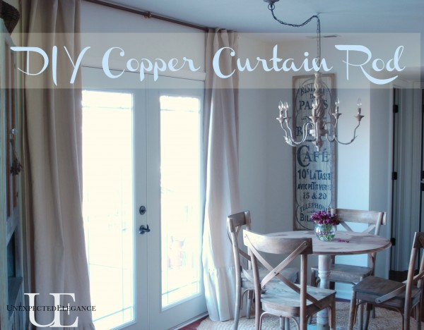 DIY copper curtain rod for my French doors Unexpected Elegance