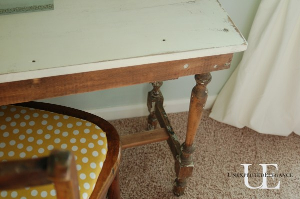 Vanity table details at Unexpected Elegance