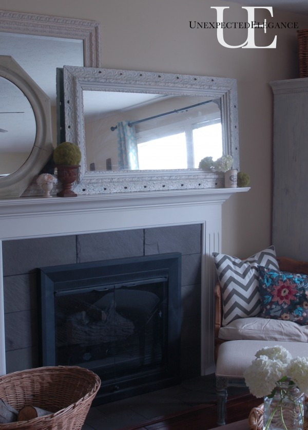 Unexpected Elegance Spring Mantel
