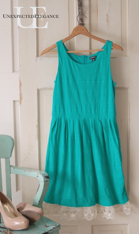 Add length to a dress without sewing from Unexpected Elegance
