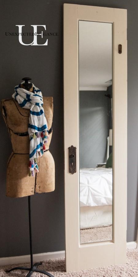 Old Door Turning Dressing Mirro (1 of 1)