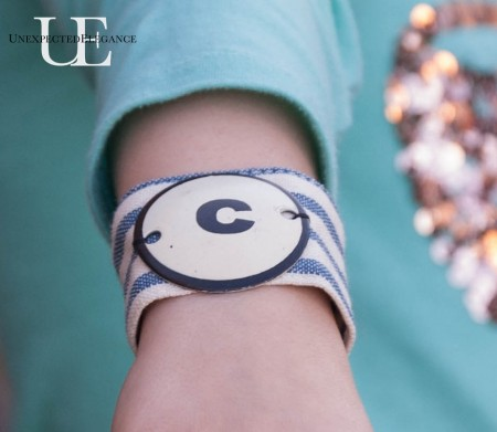 DIY Girl's bracelet from a Napkin Ring from Unexpected Elegance