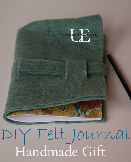 How to make a Felt Journal. Great for gift giving!