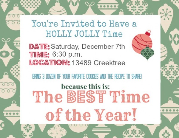 Party Invite for Holly Jolly Party from Unexpected Elegance