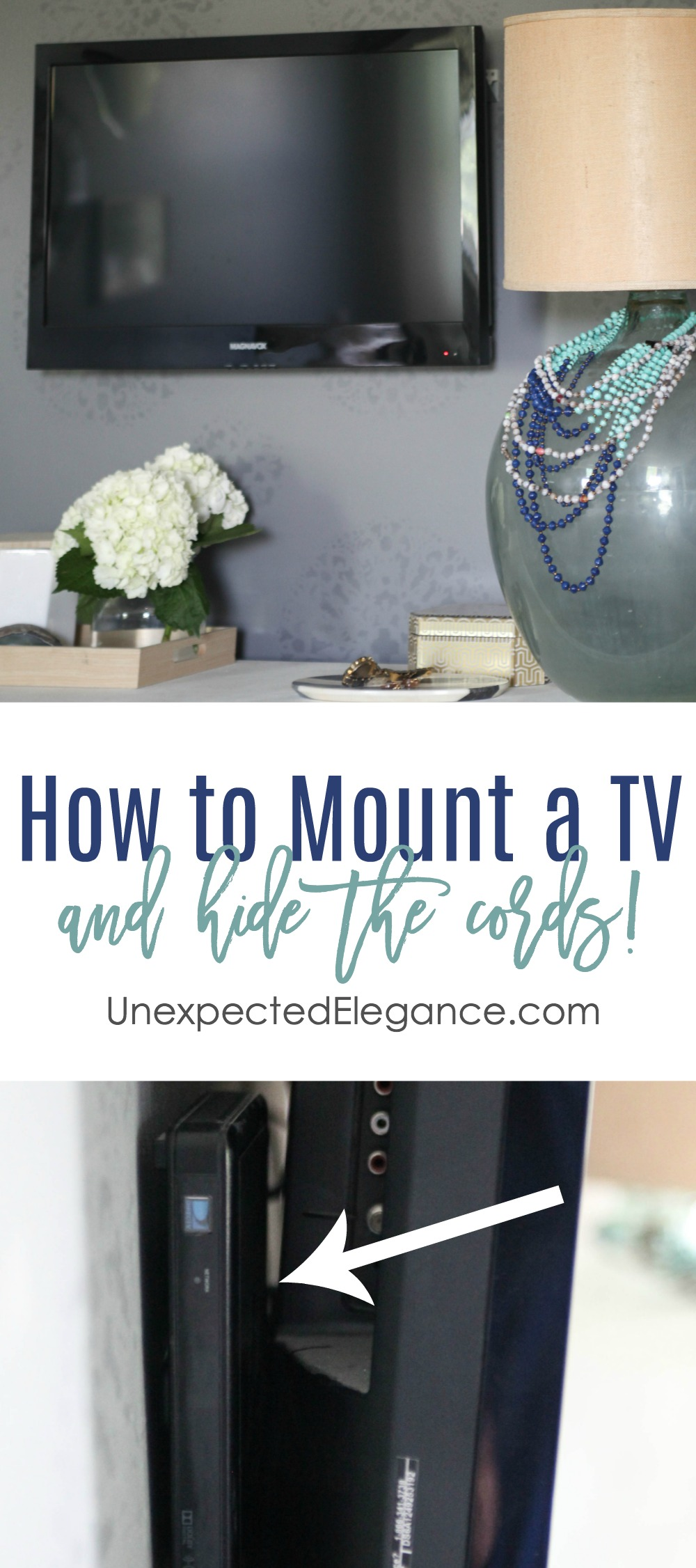 How To Mount A Tv And Hide The Cords