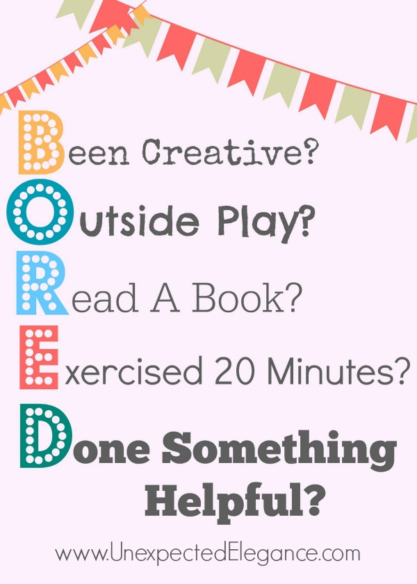 bored free printable 5x7 - Free Kids Printable