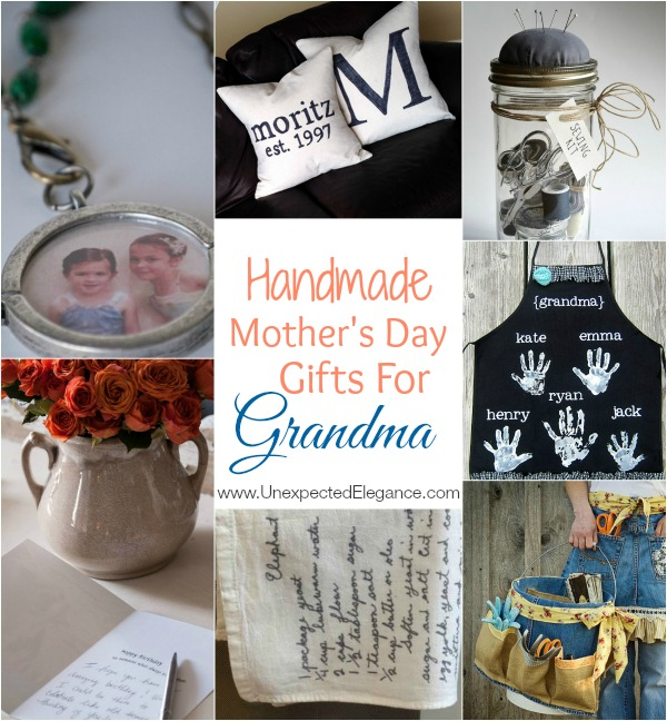 It's time to start thinking about MOTHER'S DAY! Most of our moms are now grandmothers, so check out some of these fun Handmade Mother's Day Gifts for Grandma!!