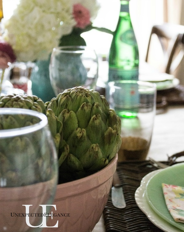 Spring Dining Room Tablescape-1-9