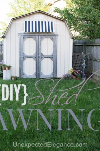 DIY Shed Awning {Quick and EASY}