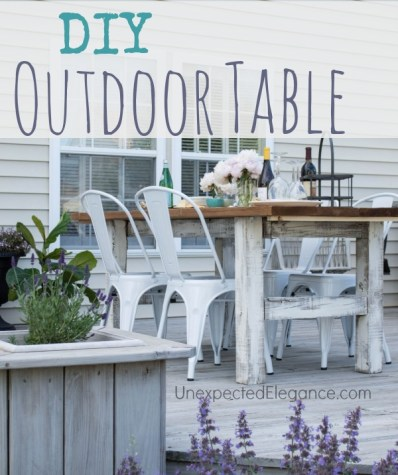 DIY Outdoor Table with tutorial