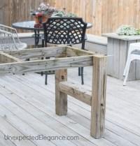 DIY Outdoor Farm Table - Unexpected Elegance