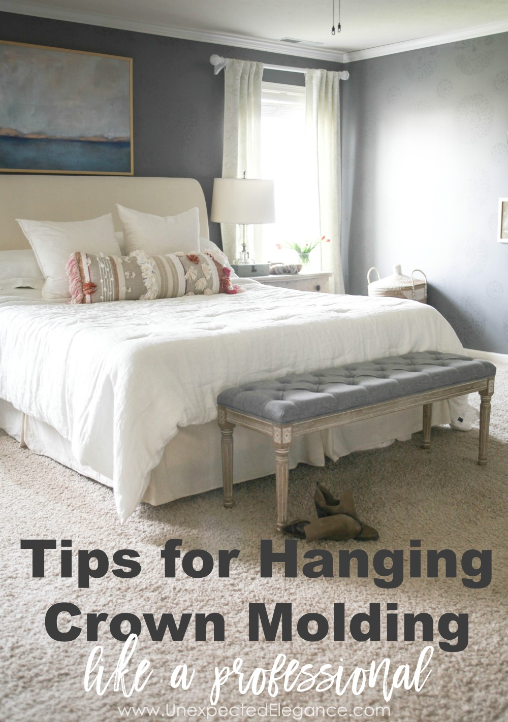 Get some tips for hanging crown molding, so you can get the professional finish. Best part is you will save some money!