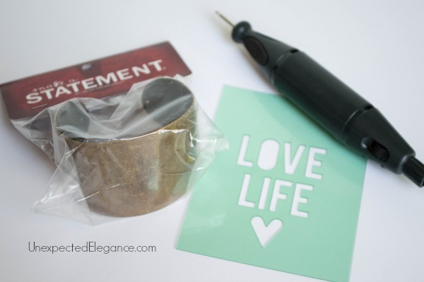 10 Minute DIY Metal Bracelet.  Great for a personalized gift.-1-2