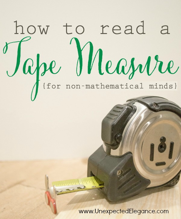"""Have you ever really learned how to READ A TAPE MEASURE?   I have broken it down for you and given you a visual so you don't have to """"count the little lines"""" any more!"""