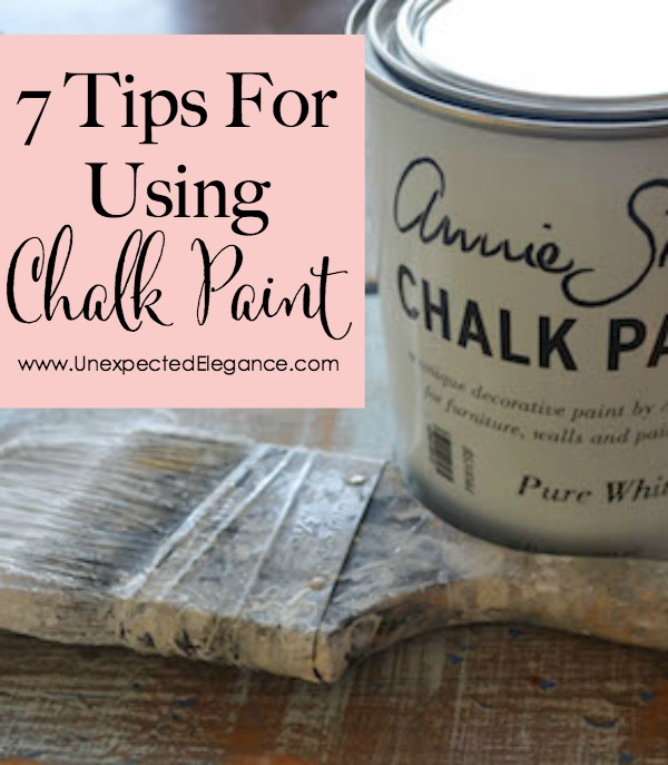 Do you have questions about using chalk paint?? Check out these 7 TIPS FOR USING CHALK PAINT. There are some great and EASY tips!!