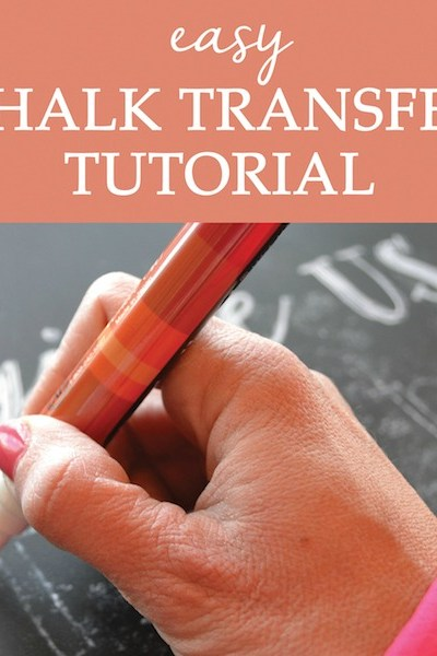 Chalk Transfer Tutorial {Video Series}