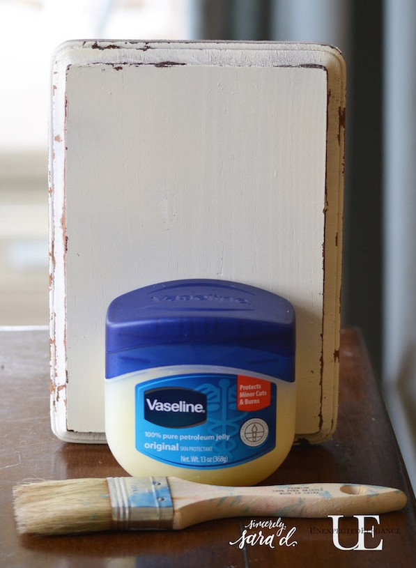 How To Distress Paint With Vaseline Video Series Unexpected Elegance
