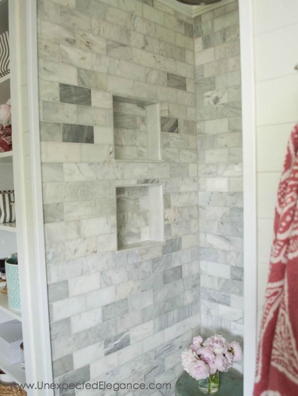 Shower Renovation diy shower renovation {using an amazing system} - unexpected elegance