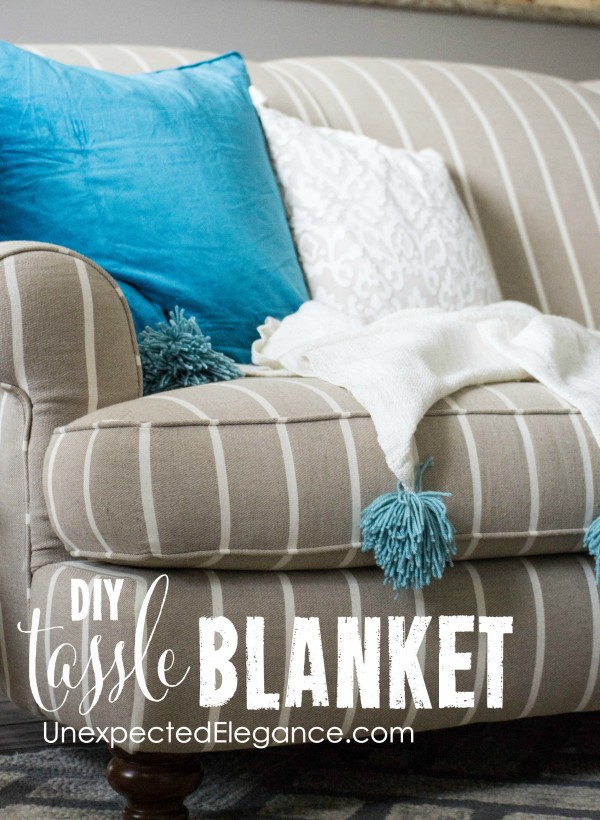 Do you love pom-poms and tassels??  See how easy it is to add them to blankets!!