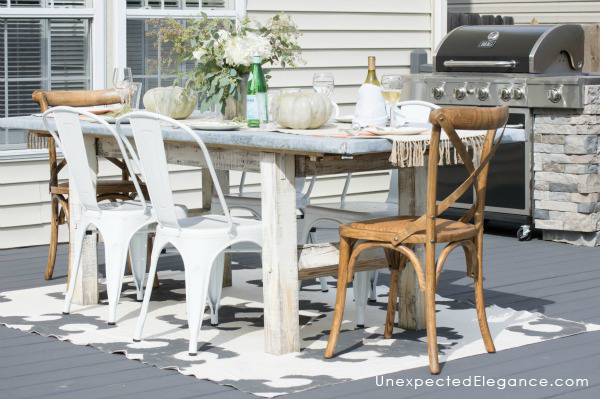DIY Zinc Outdoor Table Unexpected Elegance