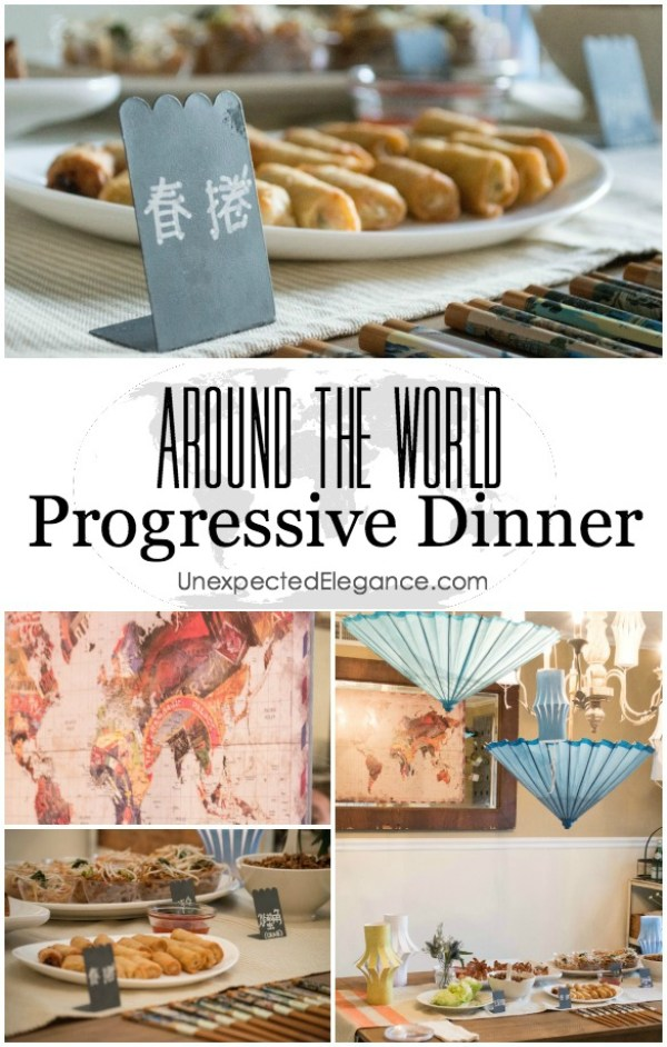 Get a few tips for having an Around the World Progressive Dinner.