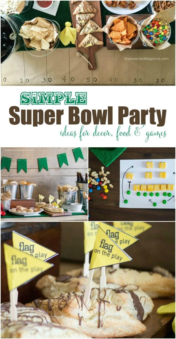 SIMPLE Super Bowl Party Ideas