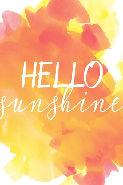 Sunshine Printable