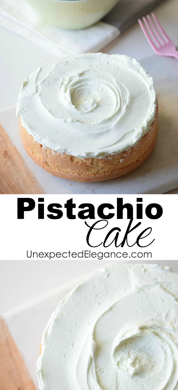 Give this pistachio cake a try for your next party or get-together! It's delicious and full of great flavor.