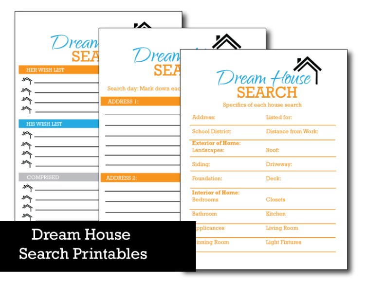If you need to move and find the task daunting, then check out these free home search printables!!