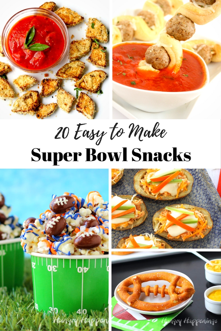 Super Bowl Sunday is one of the biggest eating days of the year, then Thanksgiving!! Which is one of the best reasons to go BIG. Here are 20 EASY Super Bowl snacks you can whip up.