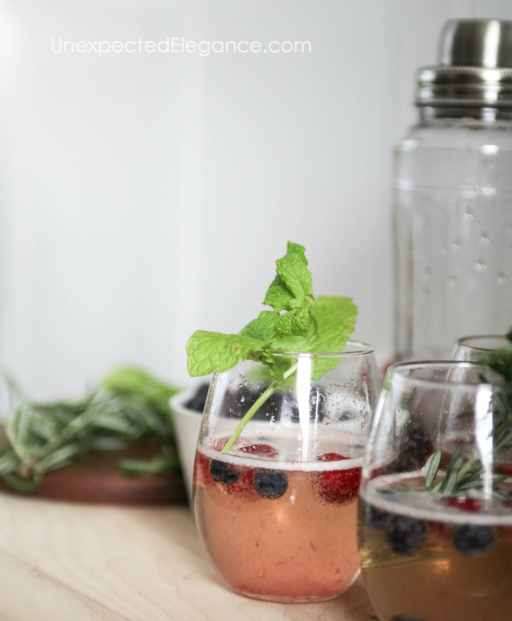 Delicious berry cocktail!