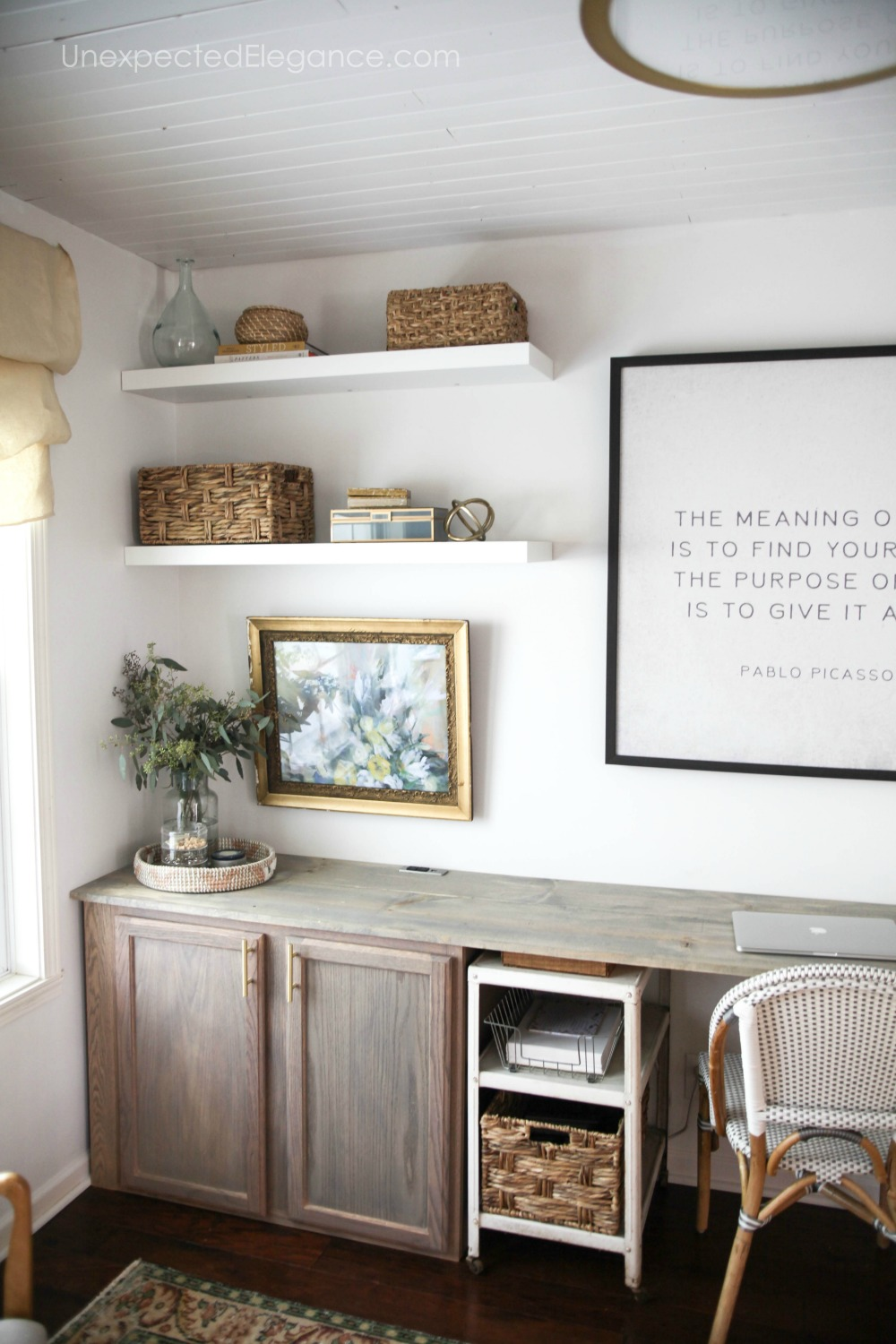 Office Makeover One Room Challenge Unexpected Elegance