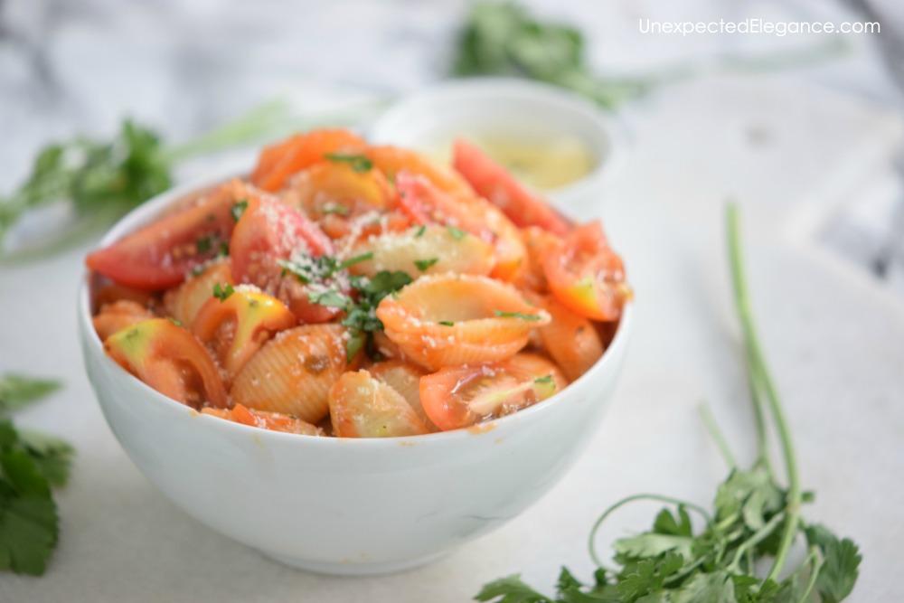 Try this garden fresh pasta sauce recipe!