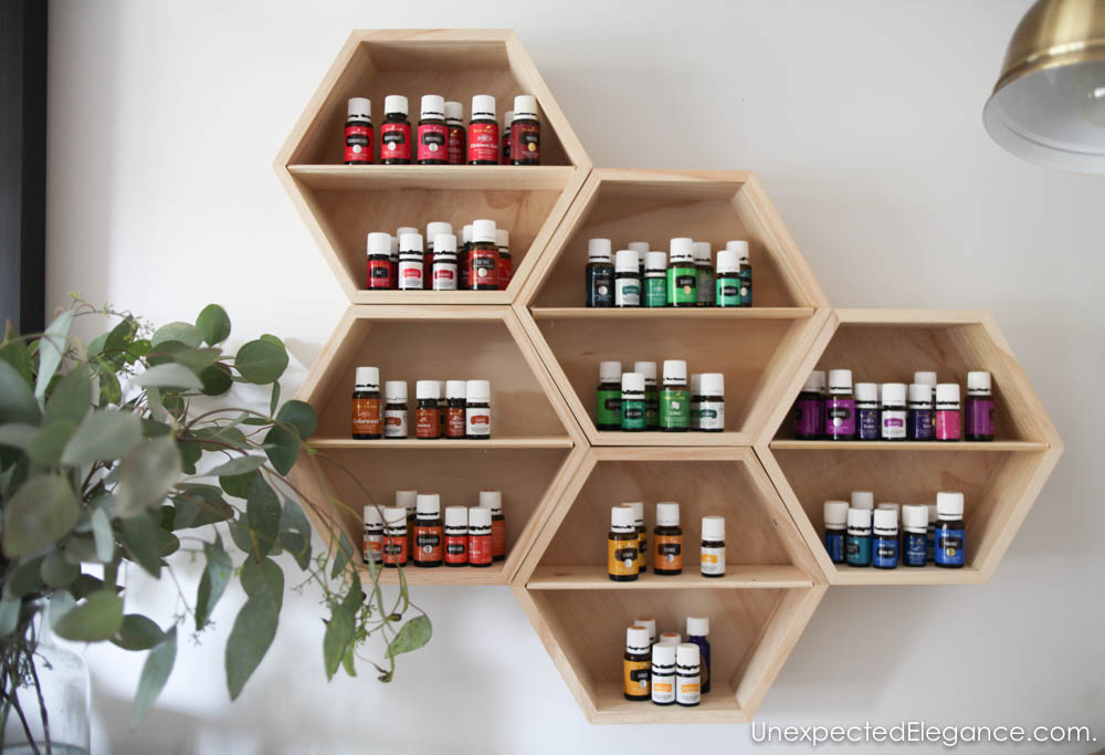 Quick and EASY DIY Essential Oil Wall Storage that is Pretty!