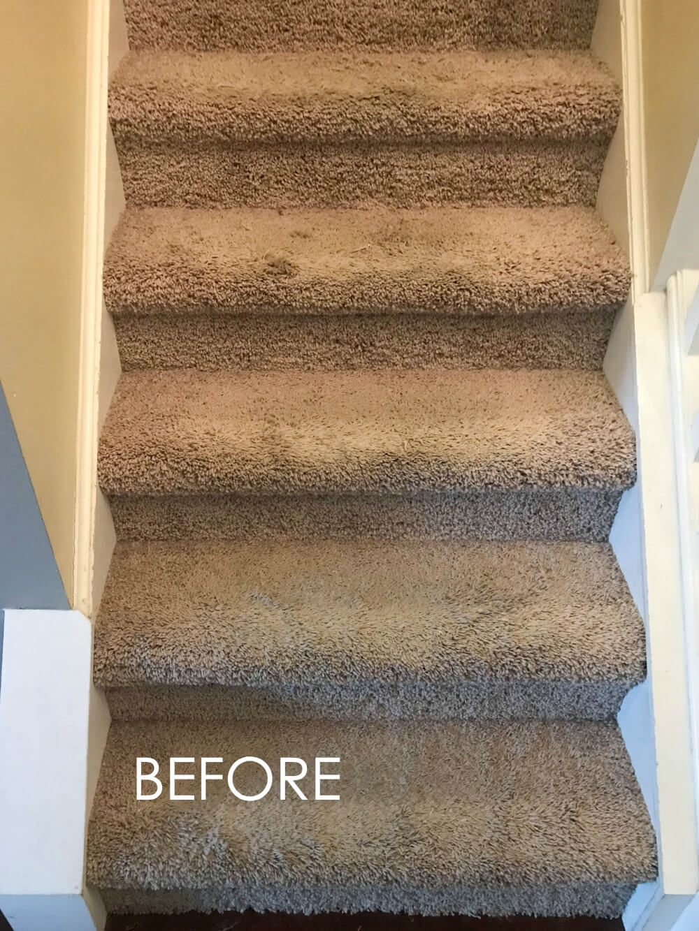How To Replace Carpet With An Inexpensive Stair Runner For Around 100   Rugs For Stairs Cheap   Carpet   Elegant   Light Grey   Persian   White