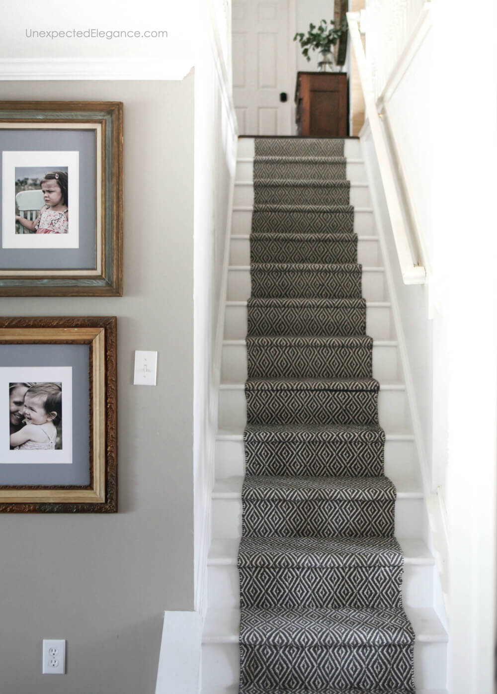 See how to replace your outdated and dingy carpet with an inexpensive stair runner.