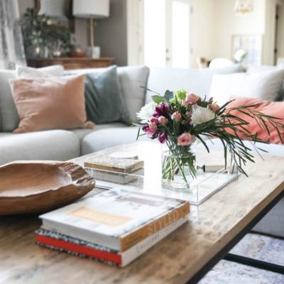 Spring Living Room Touches and Living Room Update