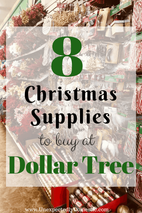 Save money and time by buying some of your Christmas supplies from Dollar Tree. Check out these awesome dollar store Christmas items!