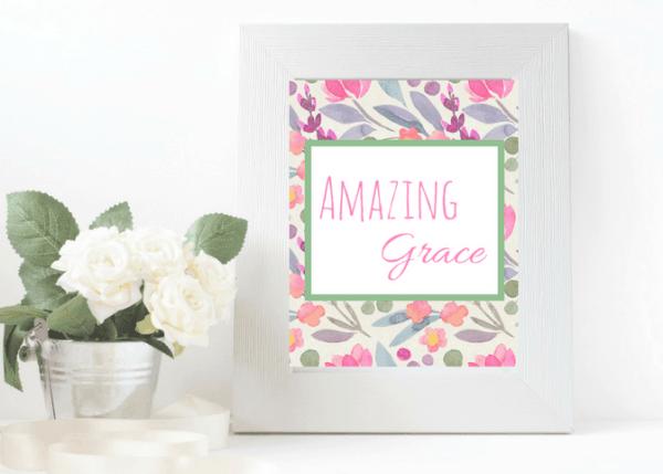 amazing grace printable