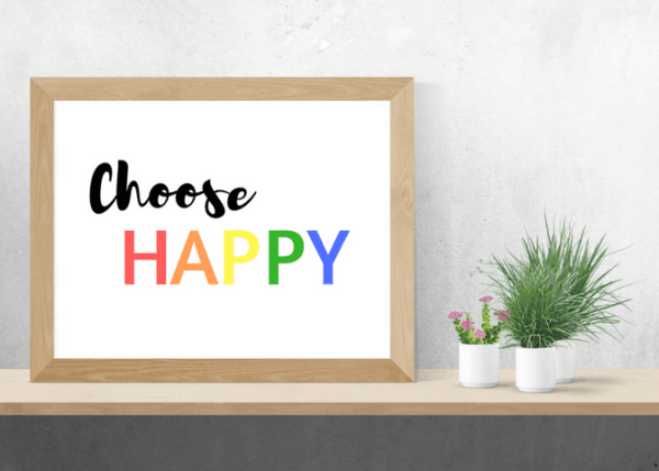 choose happy printable wall decor