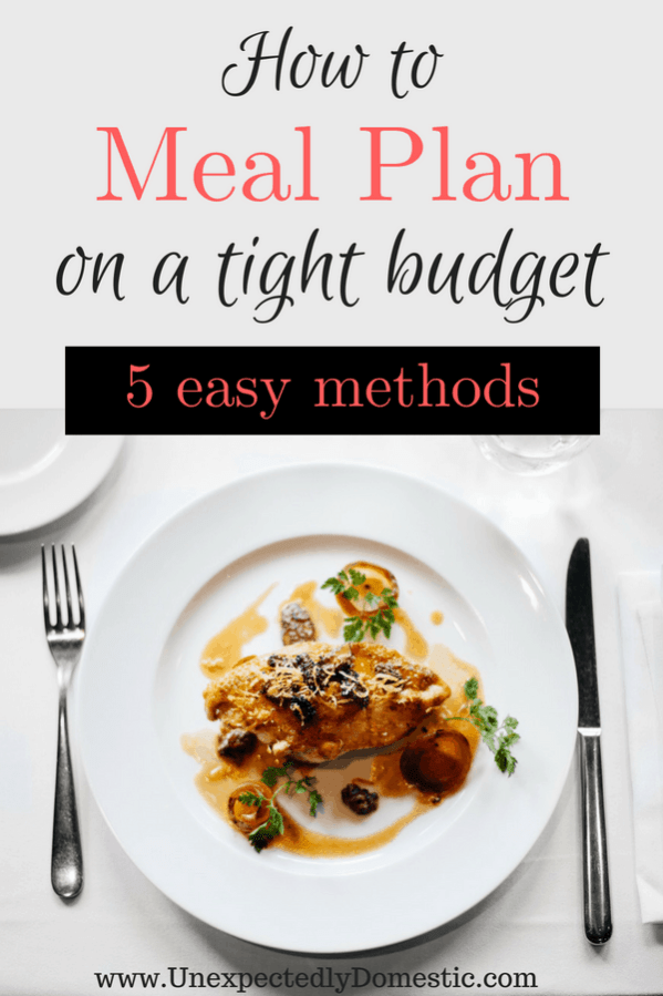 meal planning on a tight budget