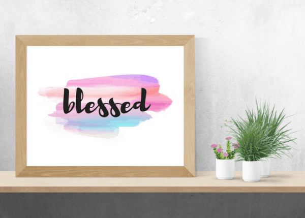 pastel blessed home decor